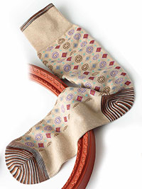 KHAKI Signature Robert Graham Socks