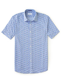 BLUE WHITE Sport Shirt by Tom James