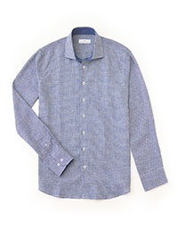 PRUSSIAN BLUE Sport Shirt by Tom James