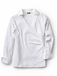 WHITE Blouse by Tom James