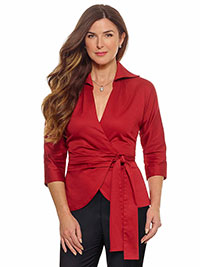 RED Blouse by Tom James