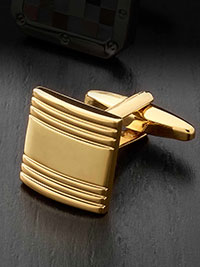 GOLD Cufflinks by Tom James