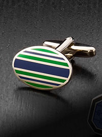NAVY Cufflinks by Tom James