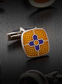 ORANGE Cufflinks by Tom James