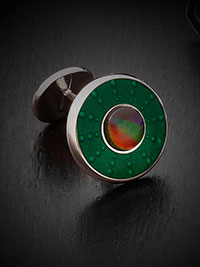 GREEN Cufflinks by Tom James