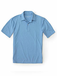 LT BLUE Performance Fabric Polo by Mizzen and Main