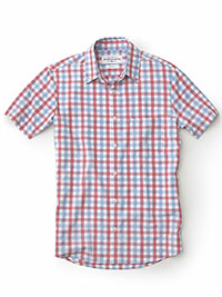 BLUE Short Sleeve Sport Shirt by Mizzen and Main