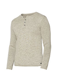 SAND Long Sleeve 4 Button Henley by John Varvatos