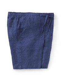 BLUE CASUAL DRAWSTRING SHORTS