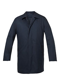 NAVY FLYFRONT INSULATED RAINCT