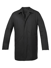 BLACK FLYFRONT INSULATED RAINCT
