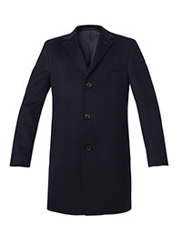 NAVY WOOL/CASH BLEND TOPCOAT