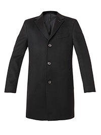 CHARCOAL WOOL/CASH BLEND TOPCOAT