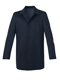 BLUE WOOL FLY FRONT CARCOAT