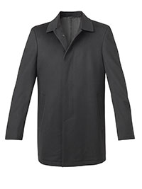 SLATE WOOL FLY FRONT CARCOAT