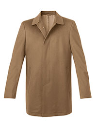 CAMEL WOOL FLY FRONT CARCOAT