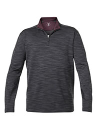 CHARCOAL QUARTER ZIP KNIT BY NICOBY