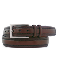Cognac Double-Pinked Belt by Johnston & Murphy