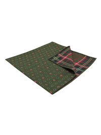 Square-Olive Neat/Plaid
