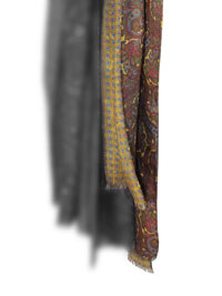 Scarf-Gold Neat/Paisley