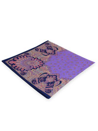 PURPLE 100% Linen Printed Pocket Square