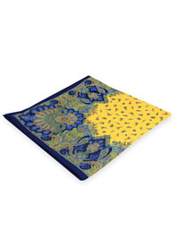 YELLOW 100% Linen Printed Pocket Square