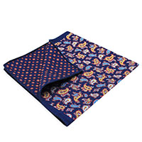 Square-Navy Paisley