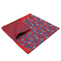Square-Red Paisley