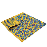 Square-Gold Paisley