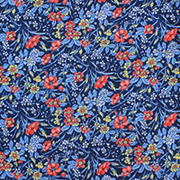 NAVY PRINT TWILL FLORAL 100 SI