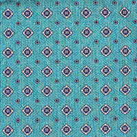 TURQUOISE PRINT LARGE NEAT 100% SI