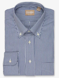 NAVY Stripe Oxford