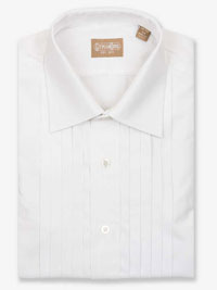 WHITE 5 Pleat Formal Shirt