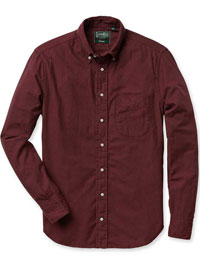 BURGUNDY                       Solid Shirt by Gitman Vintage
