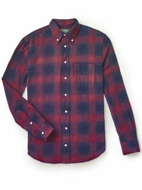 BURGUNDY                       Plaid Shirt by Gitman Vintage