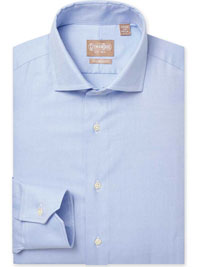 BLUE Royal Oxford Tailored Fit Dress Shirt wwith Wide Spread Collar