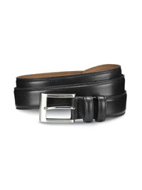 BLACK WIDE BASIC BELT by Allen Edmonds