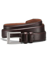 DRK BROWN WIDE BASIC BELT by Allen Edmonds