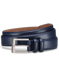 NAVY WIDE BASIC BELT by Allen Edmonds