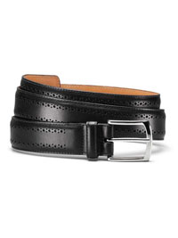 BLACK MANISTEE BELT by Allen Edmonds