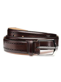 BROWN MANISTEE BELT by Allen Edmonds