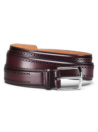 Oxblood MANISTEE BELT by Allen Edmonds