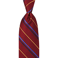 Tie-Red Oxford Stripe