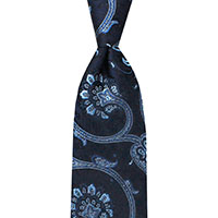Tie-Charcoal Wvn Paisley