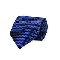 Tie-Navy Wvn Basketweave