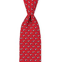 Tie-Red Printed Neat