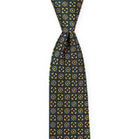 Tie-Green Woven Neat