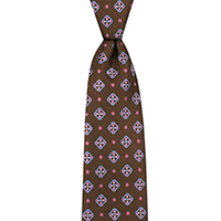 Tie-Brown Woven Neat
