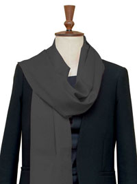 CHARCOAL Luxury Pure Cashmere Scarf - Large
