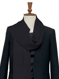 BLACK Luxury Pure Cashmere Scarf - Large